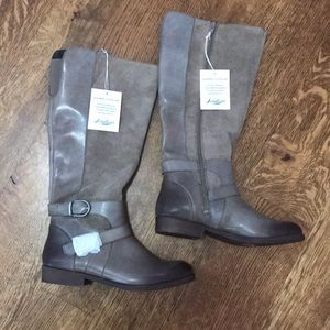 American Eagle Black Womens Riding Boots Mid-calf Size 13W Wide Extended Calf